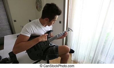 playing guitar 1