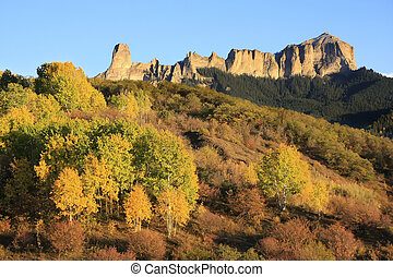 Courthouse mountain, Colorado - Courthouse mountain seen...