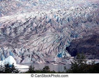 Mendenhall Glacier Juneau Alaska - Mendenhall Glacier in the...
