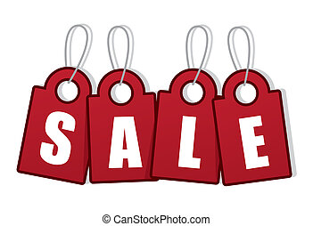 Sale Tag Word - Tag letters spelling out SALE