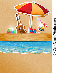 beach party - vector concept beach party illustration,...