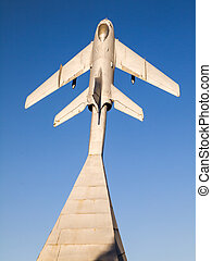 MiG-19. Monument to fallen pilots. Krasny Luch. - Monument...