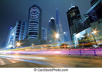 Far East Night view of Shanghai urban landscapes