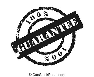 Stamp \\\'100% Guarantee\\\' - An effective way to show the...
