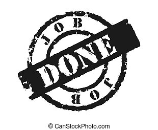 Stamp \\\'Job Done\\\' - An effective way to show the...