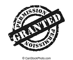 Stamp \\\'Permission Grante - An effective way to announce...