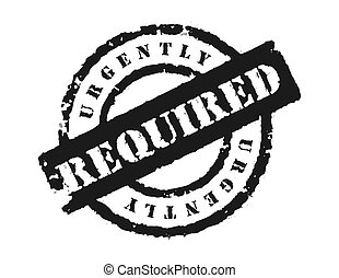 Stamp \'Urgently Required