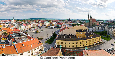Town square in Kromeriz, Czech Republic - Town square in...