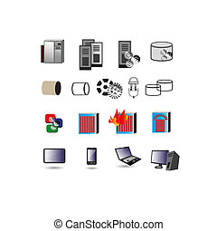 Information technology Icon, Symbol - Vector collection of...