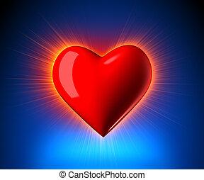 Heart Glowing