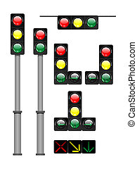 traffic lights - illustration of the light signal.