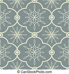 Ornamental pattern - Seamless ornamental pattern in grey...