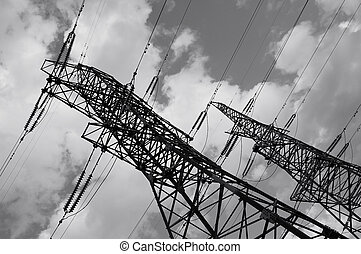 Electrical power line pylones - Electric power line pylones...