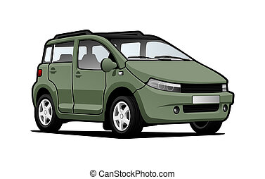 small utilitie car - illustration of  microcar.