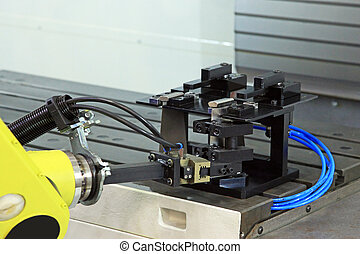 Industrial robot takes the part of the measuring device