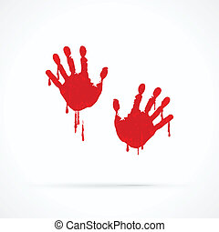 Bloody hands abstract vector logo