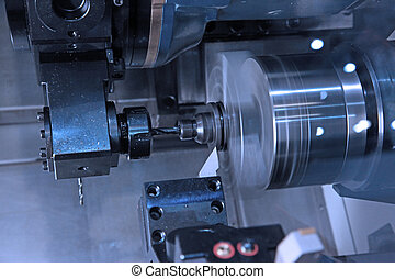 Drilling of details in CNC machining center
