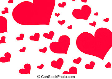 A lot of hearts - Muchos corazones - A full background of...