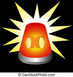 Flashing Warning Light - An image of a flashing warning...