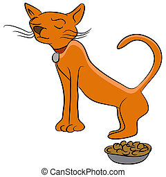 Finicky Cat - An image of a finicky cat who doesnt like his...