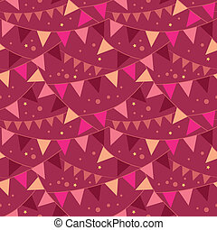 Christmas Decorations Flags Seamless Pattern Background -...
