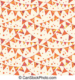 Vector Christmas Decorations Flags Seamless Pattern...