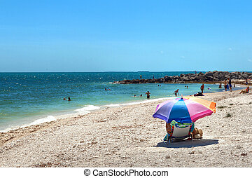 Best Key West beach, Florida. - Beach view from the Fort...