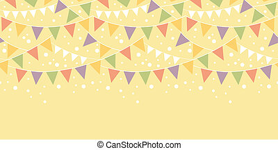 Birthday Decorations Bunting Horizontal Seamless Pattern -...