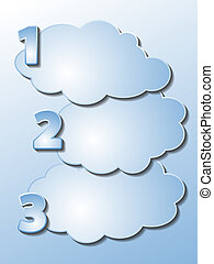 clouds - Set of different shape of clouds with numbers -...
