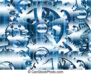 Gears with binary code