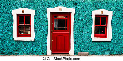 Colorful irish cottage in the ring of kerry