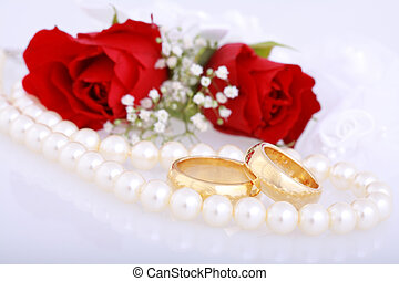 Golden wedding rings - Still life with golden wedding rings...