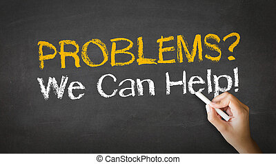 Problems we can help Chalk Illustration - A person drawing...