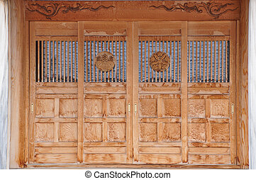 Tradition door of Japan