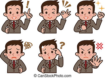 Expression of businessman