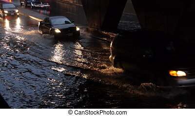 Toronto Storm Flooding 1 - Storm footage shot in Toronto...