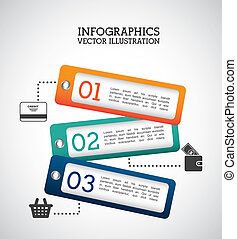 infographics labels over gray background vector illustration...