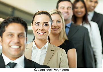 successful business people in a row