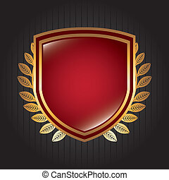 shield design over black background vector illustration