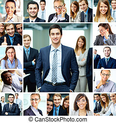 Business people - Collage of smart businesspeople in...