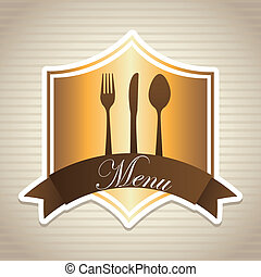 menu deign - menu design over lineal background vector...