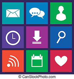 communication icons over blue background vector illustration...