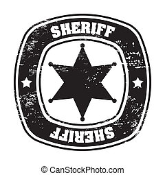 sheriff seal - sheriff sela over white background vector...