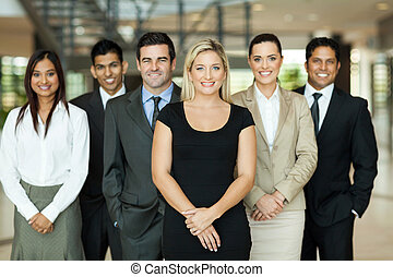 business team - portrait of modern business team inside...