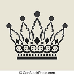 Crown Curl Decorations 2 - Crown illustration with curl...
