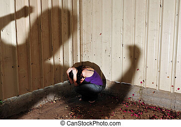 Physical abuse - Photo illustration of Physical abuse -...
