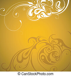 Graphic design - Decorative floral ornament backdrop with...