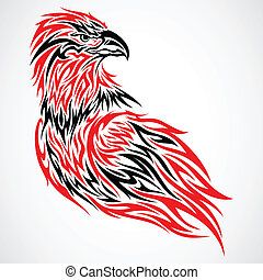 Eagle tribal tattoo - Red eagle tattoo