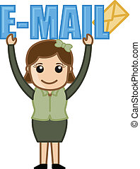 Holding and E-mail Banner