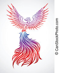 Phoenix tribal - Soaring phoenix tribal tattoo